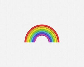 Rainbow Machine Embroidery Design - 4 Sizes