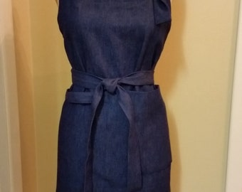 Cotton denim Apron