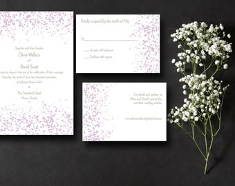 Printable Wedding Invitation Suite Petals