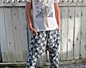 New design Indigo Zen Print Harem Pants (Unisex) SM4c