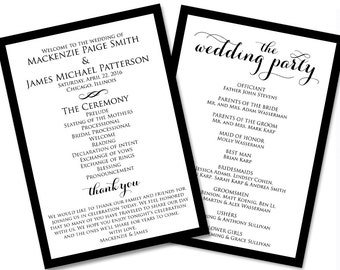 Printable Wedding Program | Editable Wedding Program | Wedding Program | Ceremony Program | Program | Editable Ceremony Program | WBWD3