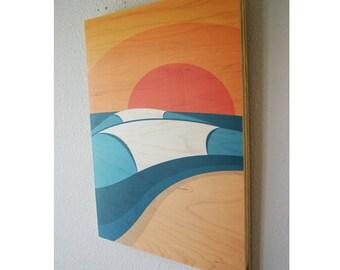 PIPELINE (Sunset) - Surf Art | Wall Art | Beach Decor