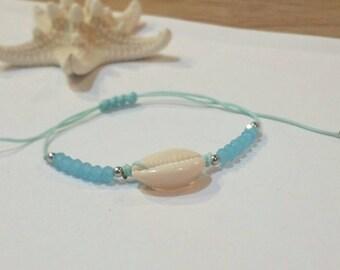 Beach Bracelet, Beaded Bracelet, Shell Bracelet, Boho Bracelet, Friendship Bracelet, Girl Bracelet, Bridesmaid Jewelry, Beach Jewelry