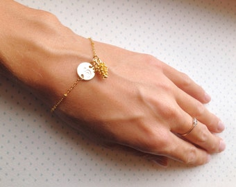 Gold Pinecone Bracelet / Fall Wedding Bracelet / Rustic Bridesmaids Jewelry / Winter Bracelet Personalized Pinecone bracelet