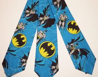 Batman on Blue Background Adult Necktie