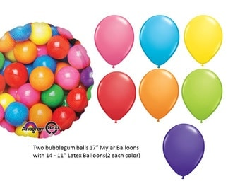 Bubblegum Mylar Balloon Set