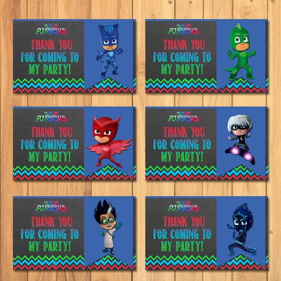Pj Masks Party Tags Chalkboard * Pj Masks Favor Tags * Pj Masks Printables * Pj Masks Birthday * Pj Masks Party Favors * Thank You Tags