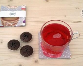 coasters - cotton-coated pattern cupcake - cupcake
