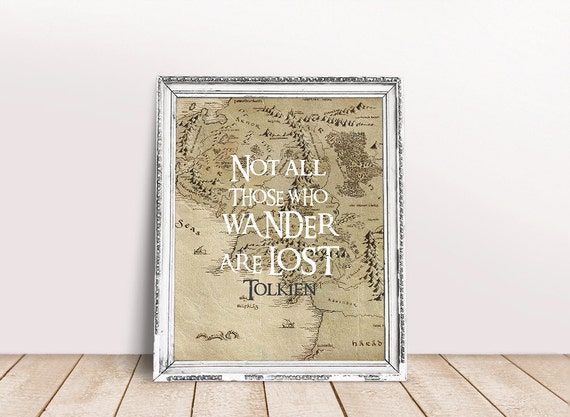 Lord Of The Rings Travel Quotes: Lord Of The Rings Poster LOTR Art Tolkien Quote Lord By