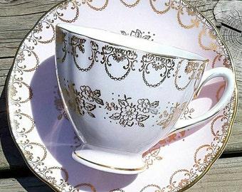 Pale Pink Colclough Teacup and Saucer