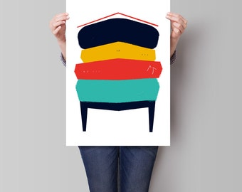 Abstract Art Print, Paint Strokes Art, Abstract Digital Painting, Abstract Wall Art, Digital Art, Instant Download, Office Decor Art, modern