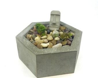 Geometric Hexagon Concrete Planter
