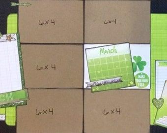 Calendar Girl March 12x12 Layout Kit
