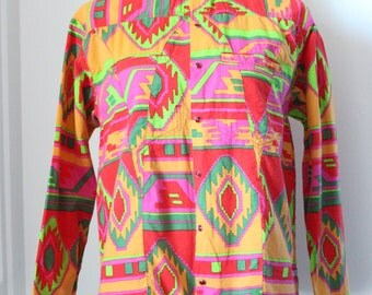 Colourful Oilily blouse Size S 90's