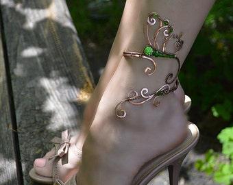 anklet - butterfly jewelry - body jewelry - butterfly -  leg bracelet - ankle jewelry - silver jewellry - gift for her