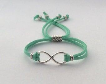 Friendship bracelet, wedding jewelry bracelet, infinity women's jewelry, silver infinity bracelet, eternal love, popular forever charm.