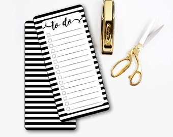 Printable planner bookmark, to do list, Notes, Don't forget, A5 planner, Black and white stripes, 2016 planner, Planner Printable