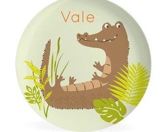 KIDS PLATE - Personalized Crocodile Dish for kids