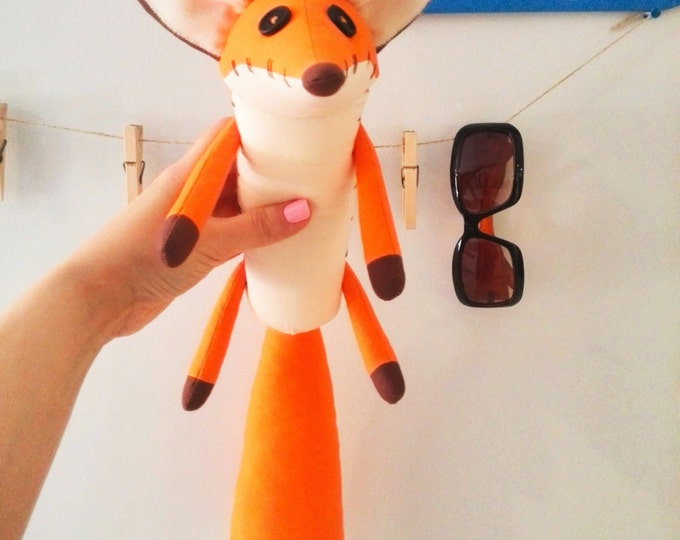 Fox 32 cm Gift for her The little fox Fabric toys Baby gift Fox stuffed animal Fox Stuffed toy Toys