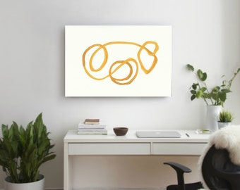 Large Abstract , Hand Made Acrylic Painting Minimalist Art, Orange white, Abstract Painting Canvas Modern Contemporary art, optical