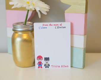 Mom to the Rescue! Notepad - Personalized Notepad - School Notes - Mom Notepad - Super Hero