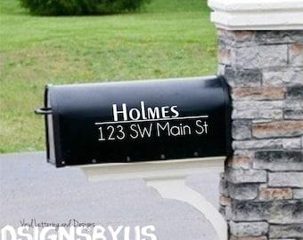 Modern Mailbox  Decal