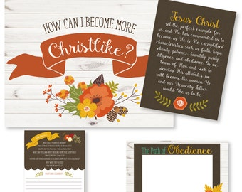 "LDS YW Come Follow Me - October - ""How can I become more Christlike?"" - Printable Lesson Helps - MB"