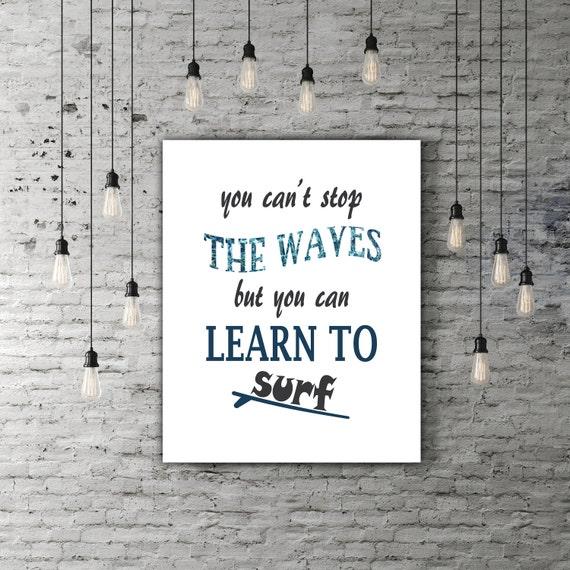 Très Surf Decor Art Print imprimable devise source dinspiration AW83