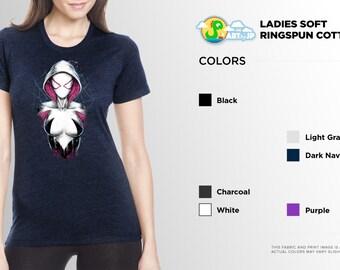 Spider-Gwen Shirt | PREMIUM QUALITY | Gwen Stacy | Spider-Woman | Comic Tee | Geek Clothing | T-Shirt | Geek Tee | Geek Gift