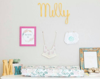 Personalized Baby Shower Gift, Girl Nursery Decor, Name Art Nursery, Nursery Wall Art, Nursery Wall Decor, Baby Name Art, Wire Wall Art