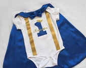 Royal Blue Little prince Personalised Baby boy 1st Birthday Outfit...1st Birthday dress up...Cake Smash Outfit...Baby photo shoot outfit...