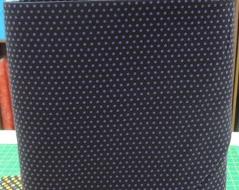 Spot On fabric. Black Purple polka dot dots quilters cotton quilting Robert Kaufman 004302