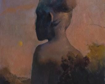 "Monolith II | Original oil painting on panel, 11""x14"""