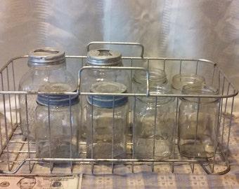 Vintage metal basket.