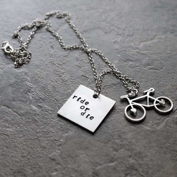 Ride or die necklace bike necklace bicycle biker jewelry for Ride or die jewelry