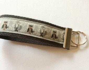 Handmade Ribbon Keychain Wristlet -  Foxes & Owls