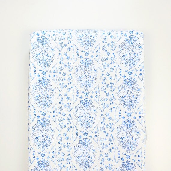 Changing Pad Cover >> Sommer Sundborn in Blue >> Nursery Decor >> made-to-order
