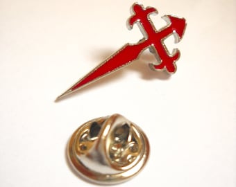 Camino de Santiago St James Cross Pilgrim lapel Pin