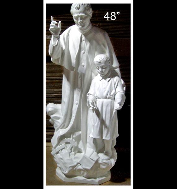 St. John Bosco St. Dominic Savio Fiberglass Statue (SALE)