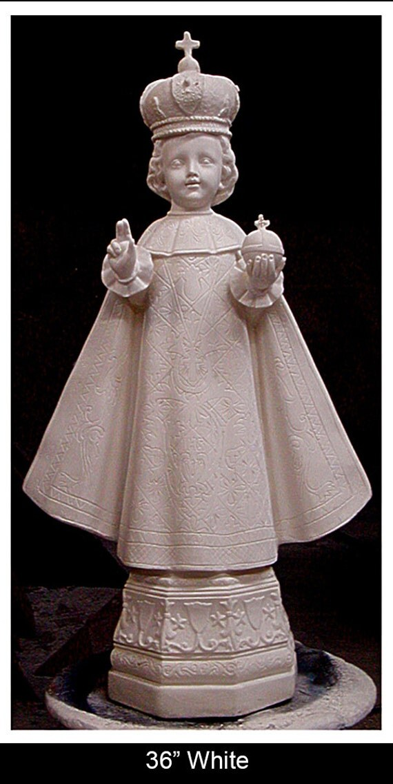 "Infant of Prague 39"" Baby Jesus Fiberglass Catholic Christian Religious Statue"