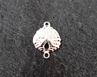 Sterling Silver Sand Dollar Connector