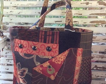 Bag made from upholstery fabrics