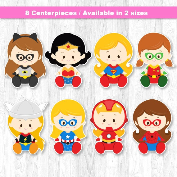 Superhero Baby Girl Centerpiece Superhero baby girl Cake