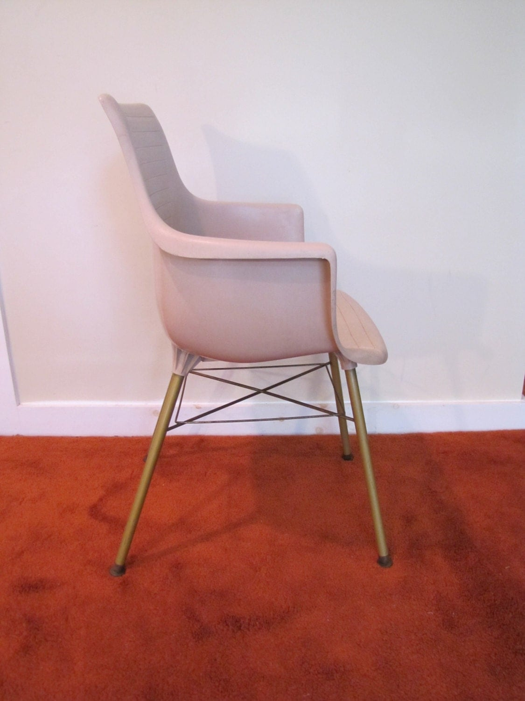 Sam Avedon Alladin Plastic Molded Arm Chair Mid Century