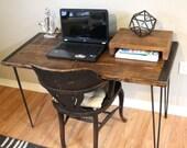 Desk, table, wood desk, computer desk, writing desk, rustic desk, industrial table, simple desk, custom desk, reclaimed table
