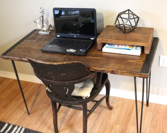 Desk, table, wood desk, computer desk, writing desk, rustic desk, industrial table, simple desk, custom desk, reclaimed table