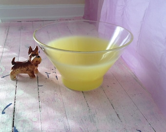 Bowl 1950s Vintage Blendo Yellow Salad Bowl 1950s Blendo Chip Bowl Blendo Frosted Serving Atomic Era Bowl Mad Men Style Retro Kitchen Bowl