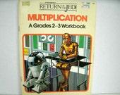 Star Wars Return of the Jedi, Multiplication Workbook, Grades 2-3, Happy House Books, 1983, Vintage 1980s