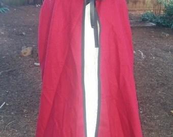 Red Woolen Cape