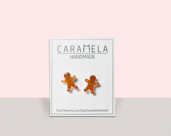 Gingerbread Cookie Earrings Christmas Earrings Christmas Jewelry Gifts for Teachers Christmas stud earrings